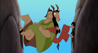 Emperor's New Groove Kuzco the llama and Pacha