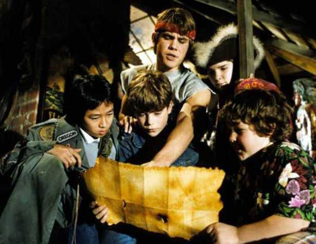 "A scene from ""The Goonies."""