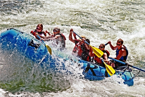 Salmon River Rafting at Timezone Rapid