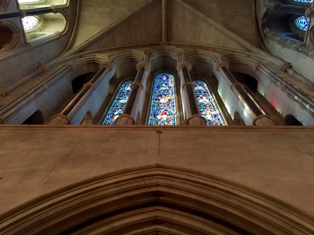 Gem-like window in Christ Church Cathedral.